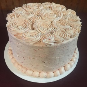 Strawberry Cake with Strawberry Buttercream